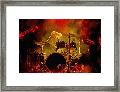 Rock And Roll Drum Solo Framed Print
