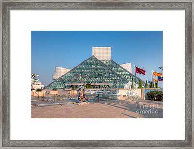 Rock And Roll Hall Of Fame I Framed Print by Clarence Holmes