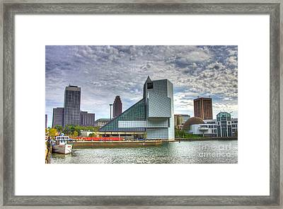 Rock And Roll Hall Of Fame Framed Print by Robert Pearson