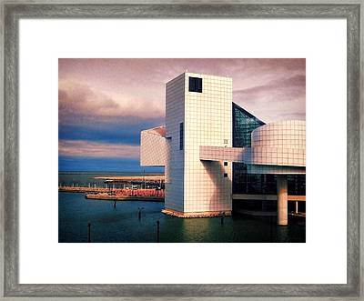 Rock And Roll Hall Of Fame Framed Print by Shawna Rowe