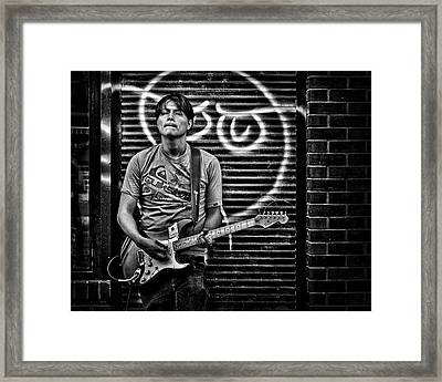 Rock And Roll In Kensington Market Framed Print by Brian Carson