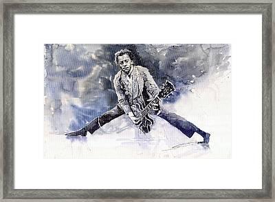 Rock And Roll Music Chuk Berry Framed Print by Yuriy  Shevchuk