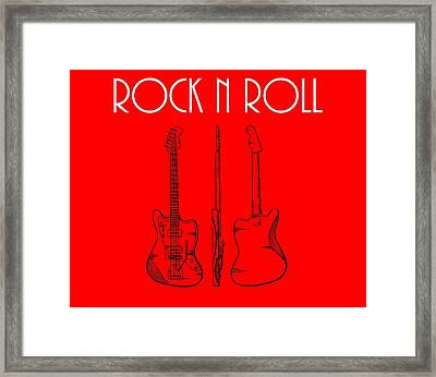 Rock And Roll Poster Framed Print