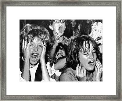 Rock And Roll Rapture 3 Painting Framed Print