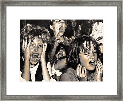 Rock And Roll Rapture 4 Painting Framed Print