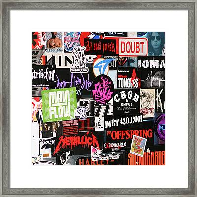 Rock And Roll Stickers Framed Print