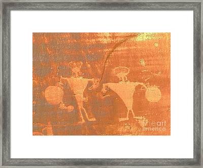 Rock Art - Utah Framed Print