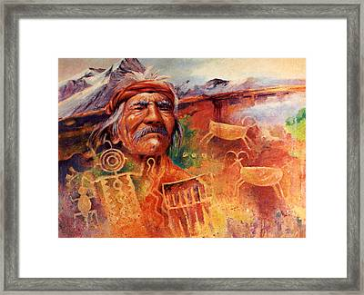 Rock Art Framed Print by Don Trout