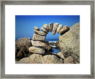 Rock Art One Framed Print by Joyce Dickens
