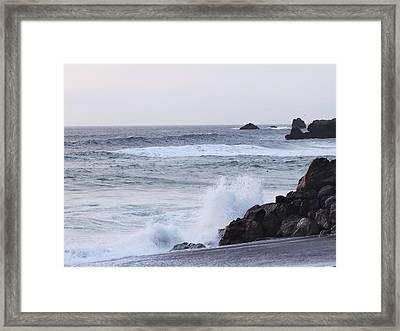 Rock-away Beach Framed Print by Kayla Hall