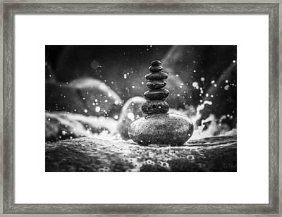 Rock Balance Framed Print