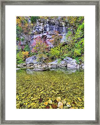 Rock Bottom On The Buffalo Framed Print