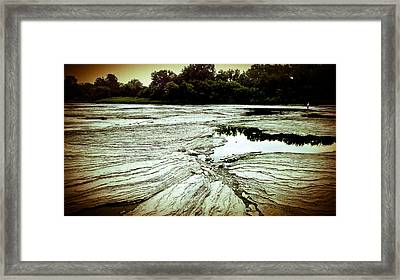 Rock Bottom,the Mighty Maumee River  Framed Print