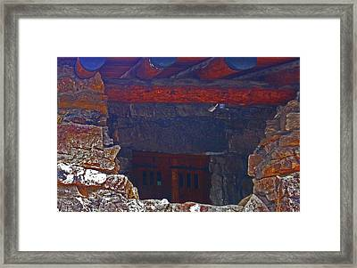 Framed Print featuring the photograph Rock Building by Tammy Sutherland