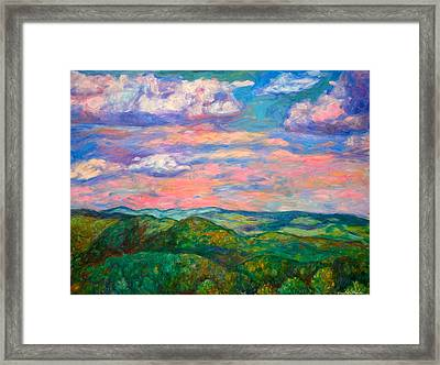 Framed Print featuring the painting Rock Castle Gorge by Kendall Kessler