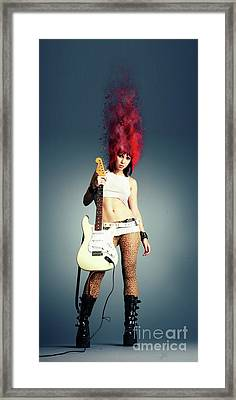 Rock Chick Framed Print