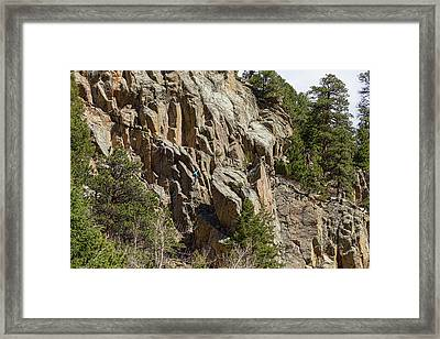 Framed Print featuring the photograph Rock Climbers Paradise by James BO Insogna