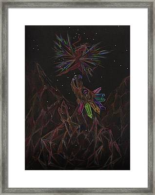 Framed Print featuring the drawing Rock Collecting by Dawn Fairies