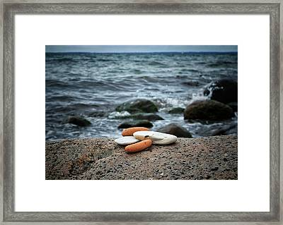Framed Print featuring the photograph Rock Collection by Karen Stahlros