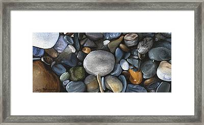Rock Collection Framed Print by Wendy Ballentyne