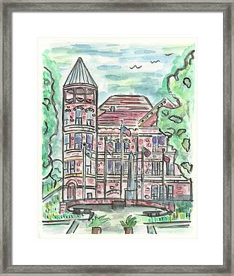 Rock County Courthouse Square Framed Print by Matt Gaudian