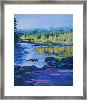Rock Creek Fishing Hole Framed Print