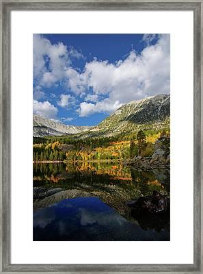 Rock Creek Lake Reflection Eastern Sierra Framed Print