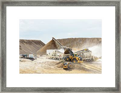 Rock Crushing 3 Framed Print
