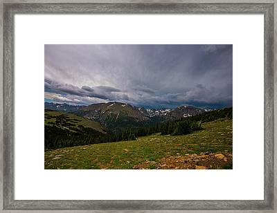 Rock Cut 3 - Trail Ridge Road Framed Print