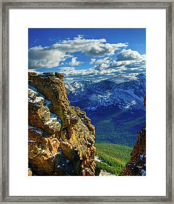 Rock Cut First Snow Rocky Mountain Natl Park Framed Print