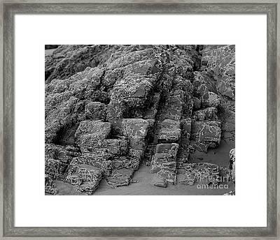 Rock Detail Oregon Coast Framed Print