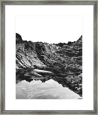 Framed Print featuring the photograph Rock - Detail by Rebecca Harman