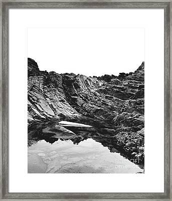 Rock - Detail Framed Print