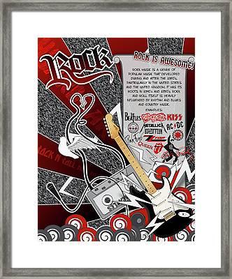 Rock Framed Print by Devin Green
