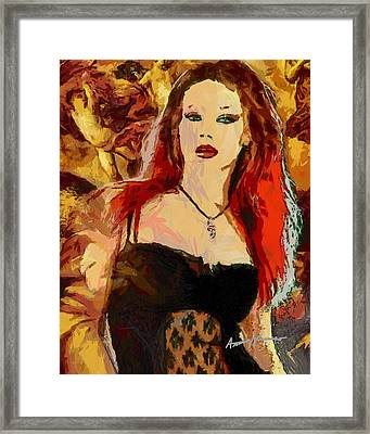 Rock Diva Framed Print by Anthony Caruso