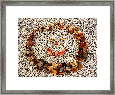 Rock Face On Granite Framed Print
