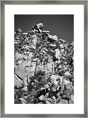 Rock Face Sandia Mountain Framed Print