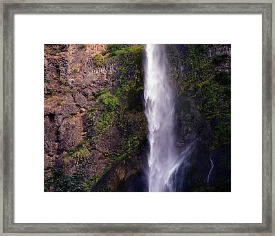 Rock Falls Framed Print by Benjamin Garvey