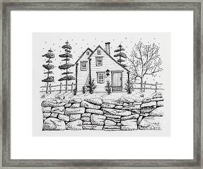 Rock Fence Framed Print