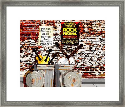 Rock Fest No Banjos Or Ukuleles Allowed Framed Print