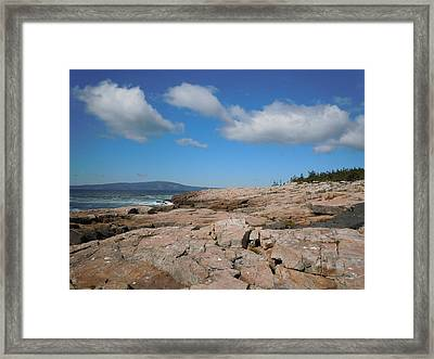 Rock Flow At Schoodic Point Framed Print