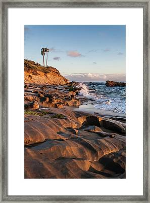Framed Print featuring the photograph Rock Formation Along The California Coast by Cliff Wassmann