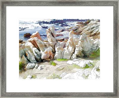 Rock Formation Bettys Bay Framed Print by Jan Hattingh