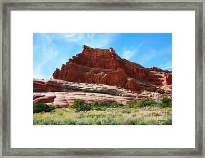 Rock Formation Of La Sal Mountains Framed Print
