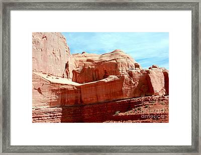 Rock Formation Of Red Sandstone Arches National Park Framed Print