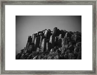 Monument To Glacier Framed Print