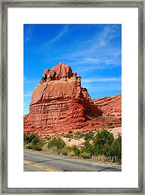 Rock Formations At Arches National Park Framed Print