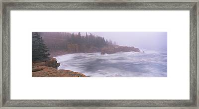 Rock Formations At The Coast, Mount Framed Print