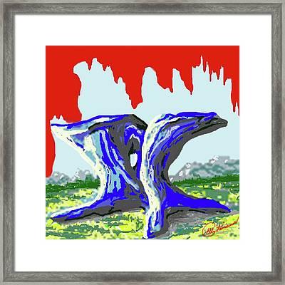 Rock Formations Framed Print