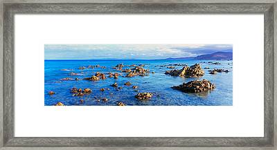 Rock Formations In Pacific Ocean, Sea Framed Print by Panoramic Images